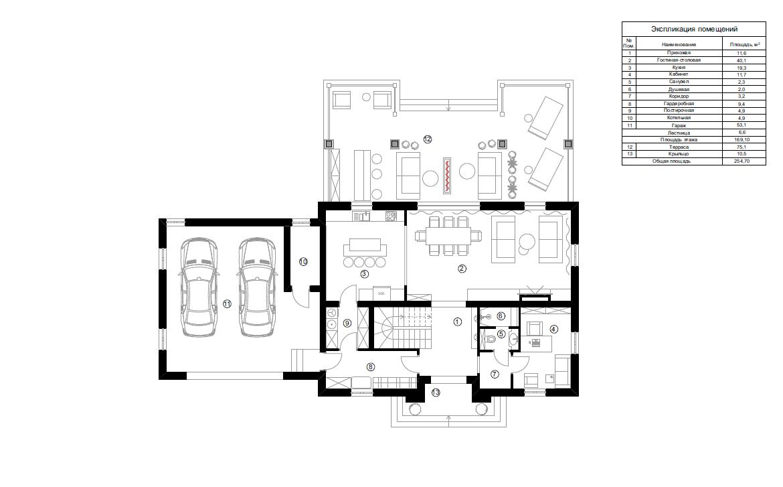 Планировка резиденции MillCreek 362 кв.м.