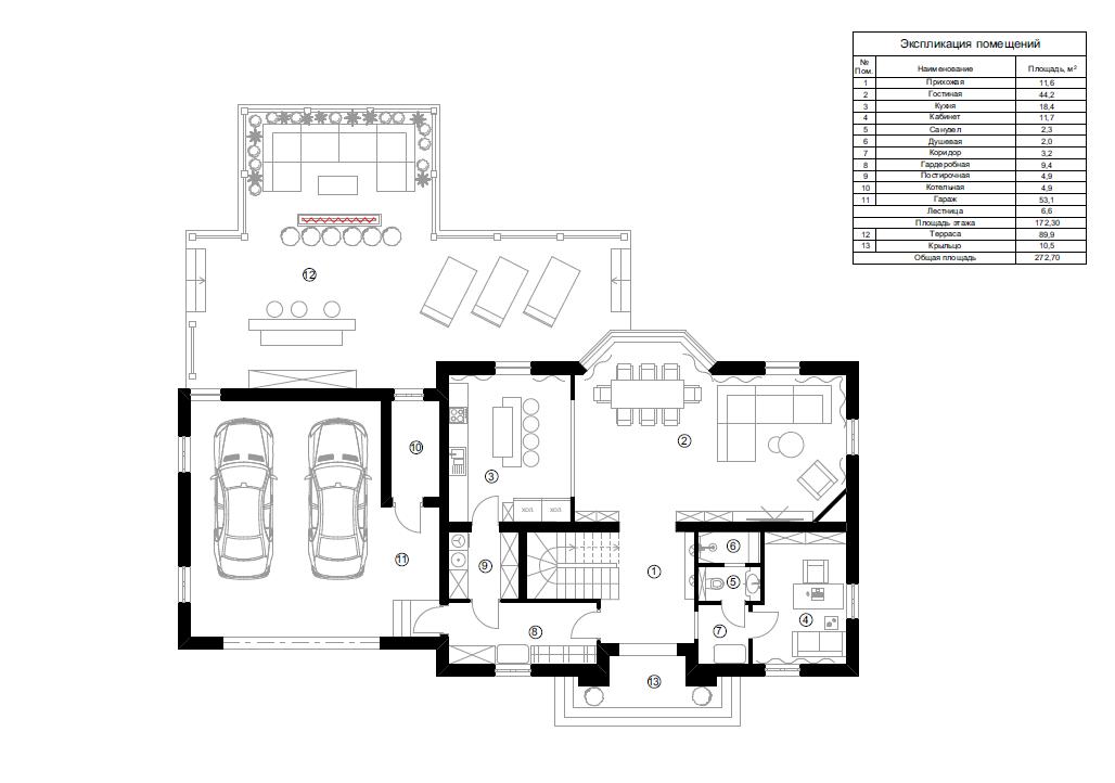 Планировка резиденции MillCreek 380 кв.м.